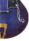 Blue Hybrid Archtop Side